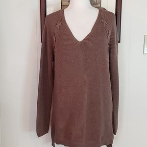 a.n.a. Lace Up Sweater Size L